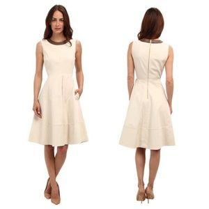Kate Spade Havana Leather Trim Dress